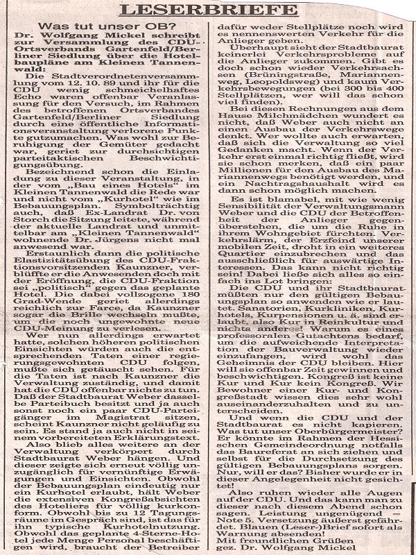 Frankfurter Allgemeine Zeitung, 14.10.1989